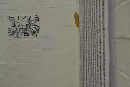 Chinese inspired art by Wits School of Art student artists. Photo: Thuletho Zwane