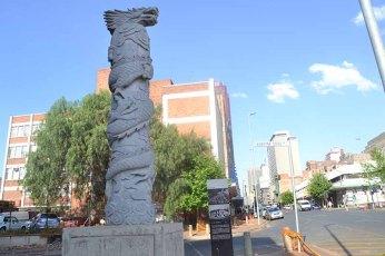 Dragon statue in Commissioner Street. Photo: Thuletho Zwane