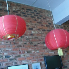 Chinese traditional lanterns as an art form with calligraphy. Photo: Thuletho Zwane
