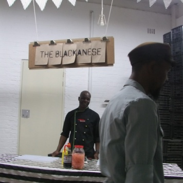 The Blackanese chef waiting at his station at Art on Main. Photo: Thuletho Zwane